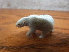 "HTF VINTAGE 1960s MARX Linemar ELEGANT Miniatures Metal Toy POLAR BEAR 1.75"""