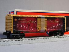 LIONEL 2016 CHRISTMAS MUSIC BOXCAR O GAUGE holiday train santa carol 6-83175 NEW