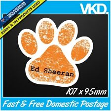 Ed Sheeran Paw Sticker/ Decal -  Tickets Vinyl Laptop Guitar Cool Retro UK CD X