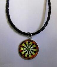 Halskette Darts Necklace Dart Anhänger Dartscheibe Dartboard 116