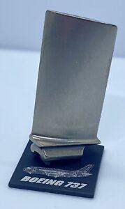 Titanium Boeing 737 Jet Engine Blade.Turbine Aviation Desk Model Pilot Gift
