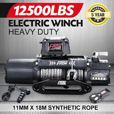 12V Electric Winch 12500LBS/5669KGS Synthetic Rope Wireless 4WD ATV BOAT TRUCK
