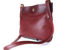 Auth CARTIER Cartier Must De Vintage Bordeaux Cross- Body Shoulder Bag CS13313L