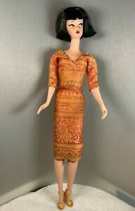Silkstone Barbie Classic 50's Style Lined 100% Silk Dress and Belt by Solveig