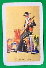 Playing Cards 1 Swap Card Old Vintage ENN Named GUITARRISTA Barribal Guitar Man