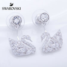 Swarovski Swan Lake Pierced Earrings, RHS Crystal Authentic MIB 5210459