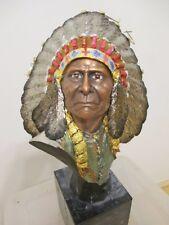 "Chief Joseph 1991 Chillmark Pewter Slockbower Indian Bust 13"" 531/750"