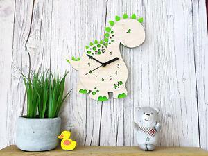 Dinosaur Clock • Children's Clock • Personalised Gift • Christmas Present