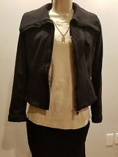 ILARY ITALY Vera Pelle Women's Motorcycle Jacket Lycra/Spandex Black Size Small