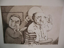 """Art print Charles Bragg artist black Lithograph """"the oath"""" Duotone Signed"""