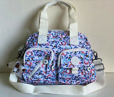 KIPLING DEFEA CONVERTIBLE SLING CROSSBODY BAG PURSE SATCHEL PALM SPRING WHITE