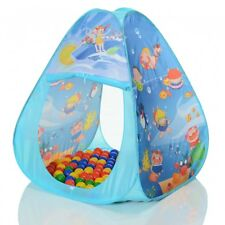 Pop up play tent children house Ocean triangle with 100 balls for the ball pit