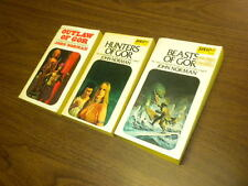 3 GOR paperbacks lot JOHN NORMAN fantasy/sf BALLANTINE DAW
