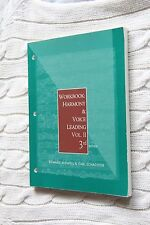 Harmony and Voice Leading: Workbook - Vol. 2, 3rd edition, Like new, free post