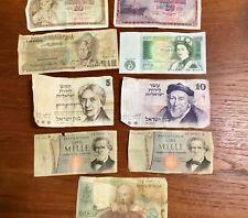 Israel, Pound, Jugoslavija, Italia Lira Paper Money Guatemala