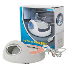 Electric Tea Coffee Mug Warmer Heat Pad Hot Drink Beverage Cup Heater w/ USB Hub