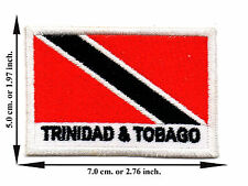 Trinidad And Tobago Flag Nation Football Sport Size L Applique Iron on Patch Sew