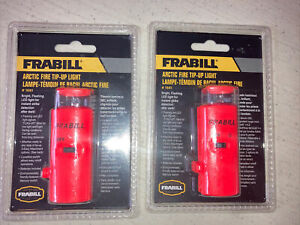 BNIP 2 Pk Frabill 1681 Arctic Fire Ice Fishing LED Tip Up Light Walleye Pike