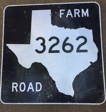 Old Authentic Retired TEXAS 3262 SIGN Highway Oil Gas (24X24) Lone Star