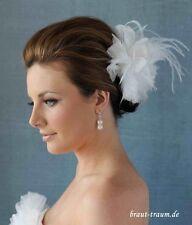Haarblüte, Fascinator, Schleier, Hochzeit ivory, Braut, zum Brautkleid
