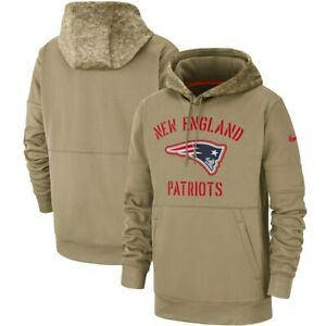 Nike 2019 Salute To Service New England Patriots Sideline Therma Pullover Hoodie