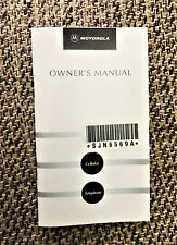 As-New Vintage Motorola 'Cellular Telephone Owner's Manual' for MICRO TAC 550
