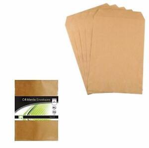 C4 Envelopes Manila Brown Peel Office Supplies Home Use Envelopes Pack of 12