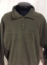 Green LL Bean Fleece Long Sleeve Sweater Shirt XL