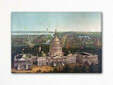 View of Washington City 1869 Fridge Magnet