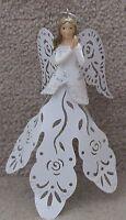 White Metal Angel Ornament..