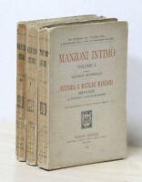M. Scherillo e G. Gallavresi - Manzoni intimo 1^ ed. 1923 Hoepli Opera completa