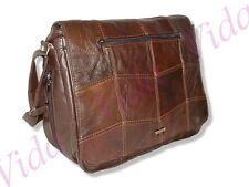 Lorenz Large Cowhide Leather Laptop Tablet Bag / Messenger Bag / Manbag – Brown