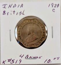 1920 India British 4 Annas