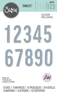 SIZZIX® THINLITS SET 10PK - BOLD NUMBERS by A.WILLIAMS™ RRP £4.99 NOW £4.79