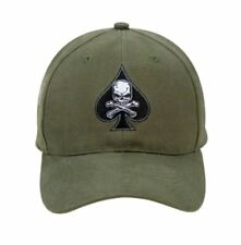 Rothco Low Profile Cap Hat Bassball Death Spade Olive Drab Skull