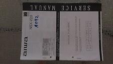 Aiwa nsx-v20 service manual original repair book stereo cd player boombox radio