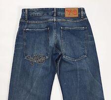 jeans adidas Y3 yohji yamamoto w30 tg 44 usato blu relaxed comodo loose T1825