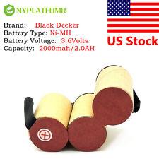 4/5SC 2000mah for Black Decker 3.6V Battery pack KC 9036 KC 9039 KC9036 KC9039