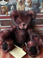 """Bears by Toop by Karen Badillo 8"""" """"VIOLET""""GERMAN MOHAIR Glass Eyes"""