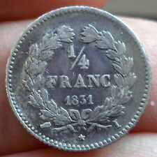 Extremely rare 961ex 1/4 franc louis philippe 1831 limoges