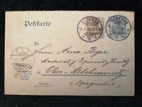 Deutsches Reich 14.03.1907 - Postkarte Altchemnitz - Chemnitz Ganzsache