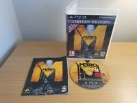 PLAYSTATION 3 - PS3 - METRO LAST LIGHT - COMPLETE WITH MANUAL - FREE P&P