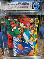 1998 SNES Nintendo Super Mario World 2: Yoshi's Island CIB WATA 8.0 (Cart 9.4!)