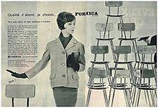 G- Publicité Advertising 1961 (2 pages) Meubles Mobilier les chaises Formica