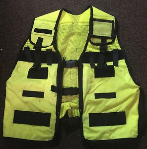 Hi Vis Remploy Frontline Hydration Tactical Vest MK2 & optional Camelbak Pouch