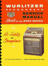 MANUALE COMPLETO (manual) JUKEBOX WURLITZER 2900 - 2910  (juke box) (1965)