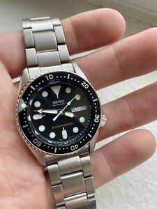 Seiko SKX013 38mm Diver SKX013K1 Men's Wrist Watch 7s26 Bracelet SKX USED