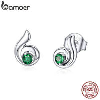 BAMOER Dancing Melody S925 Sterling Silver Stud Earrings With AAA CZ For Women