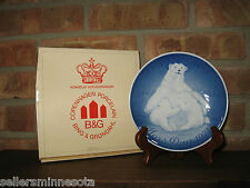 Copenhagen B & G c1974 Mother's Day Plate Limited Edition Polar Bear & Young