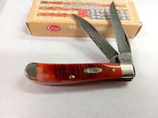 Case Knife 31304 Sawcut Chestnut Bone Damascus Mini Trapper New in Box  2016